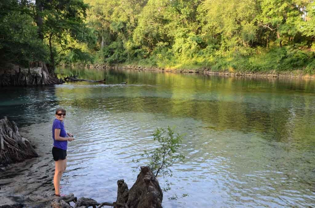 Spring run into the Withlacoochee River