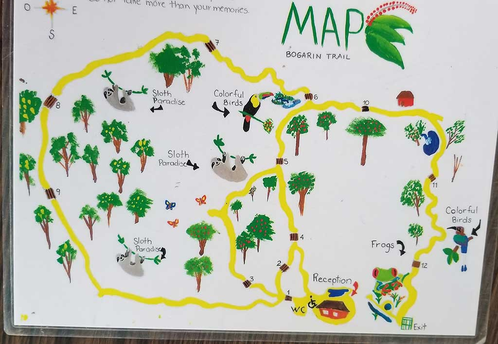 Map of Bogarin Trail