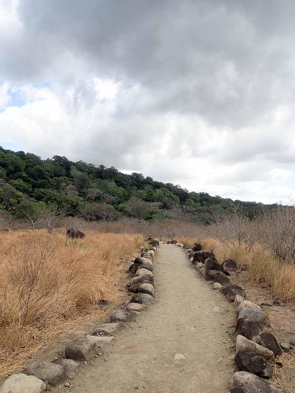 Hiking path through Rincon de la Vieja